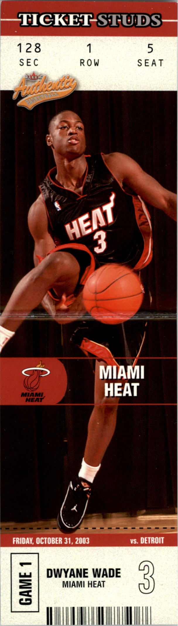 2003-04 Fleer Authentix Ticket Studs #7 Dwyane Wade