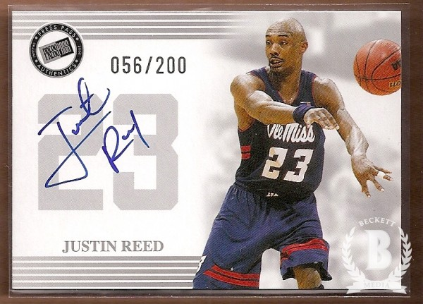 2004 Press Pass Autographs Silver #26 Justin Reed