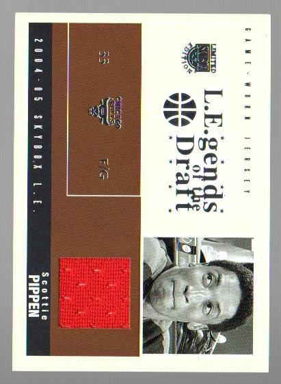 2004-05 SkyBox LE Legends of the Draft Jerseys Year #SP Scottie Pippen/87