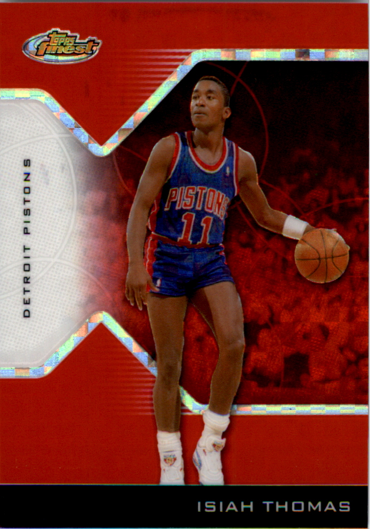 2004-05 Finest X-Fractors Red #141 Isiah Thomas