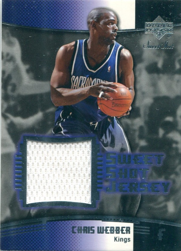 2004-05 Sweet Shot Jerseys #CW Chris Webber