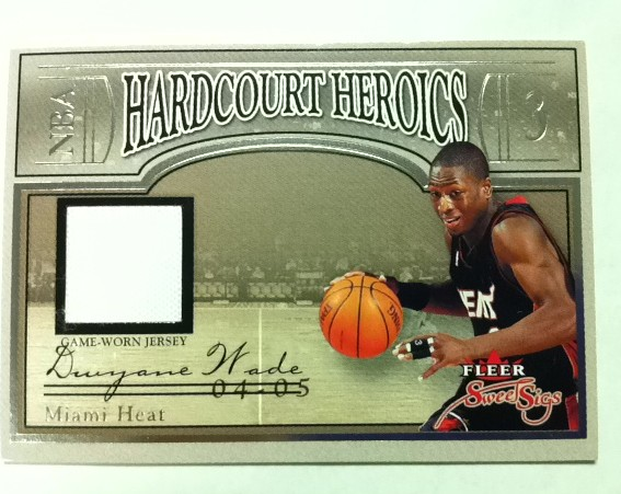 2004-05 Fleer Sweet Sigs Hardcourt Heroics Jerseys #DW Dwyane Wade