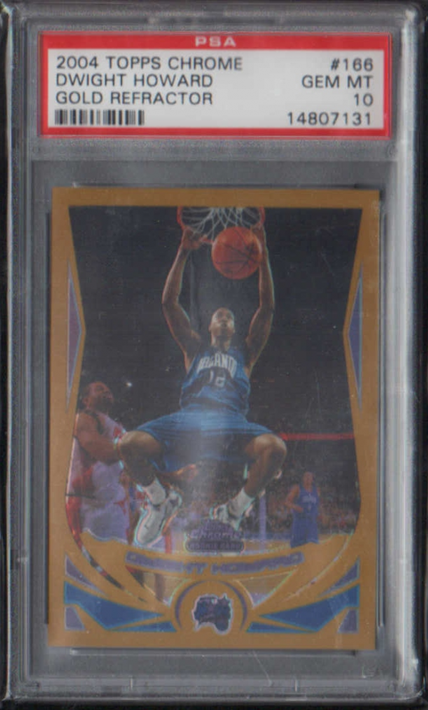 2004-05 Topps Chrome Refractors Gold #166 Dwight Howard