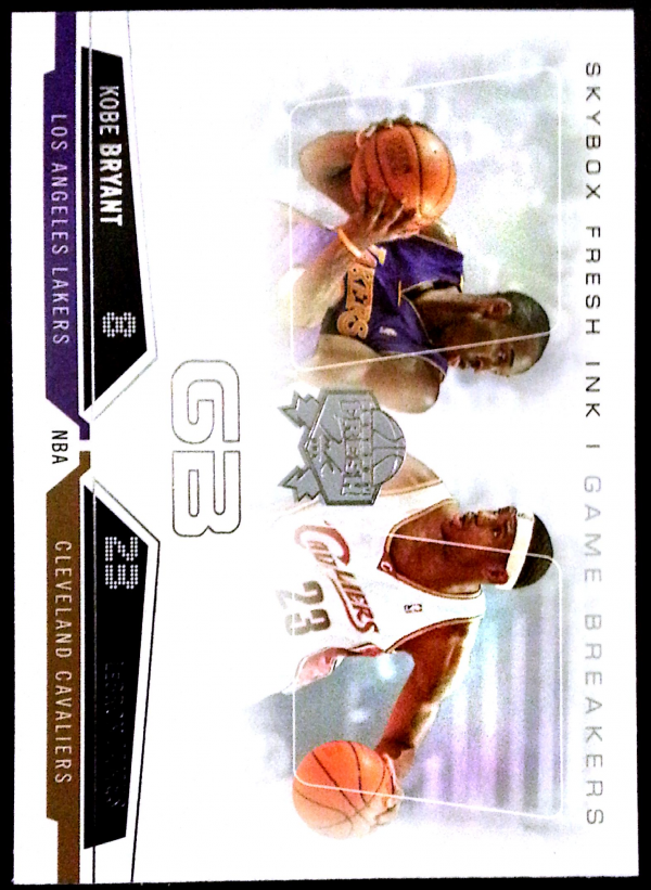2004-05 SkyBox Fresh Ink Game Breakers #6 LeBron James/Kobe Bryant