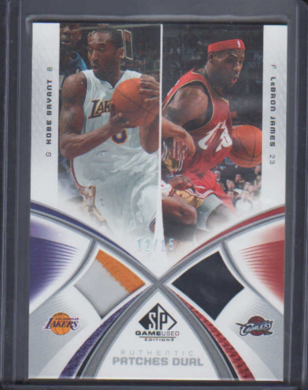 2005-06 SP Game Used Authentic Fabrics Dual Patches #BJ Kobe Bryant/LeBron James
