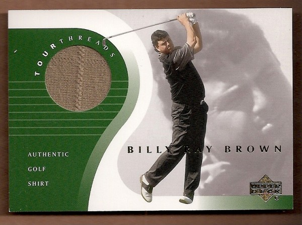 2001 Upper Deck Tour Threads #TTBB Billy Ray Brown