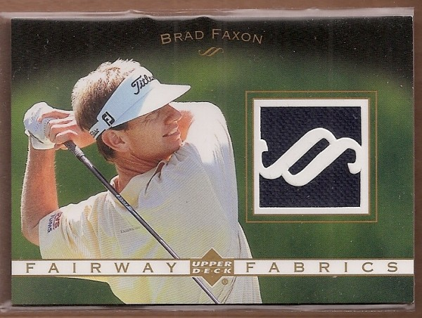 2003 Upper Deck Fairway Fabrics #BF Brad Faxon