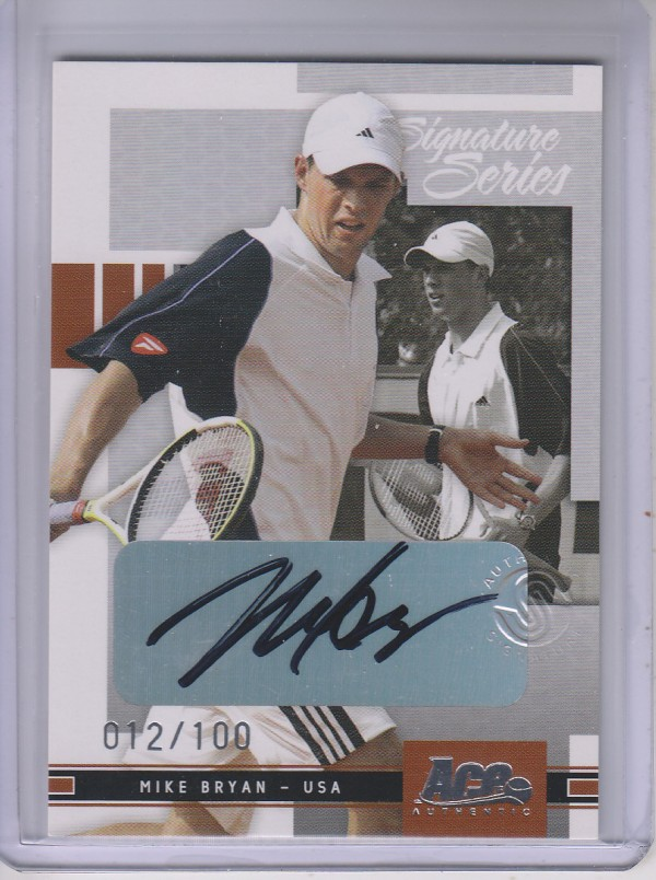 2005 Ace Authentic Signature Series Autograph #19 Mike Bryan