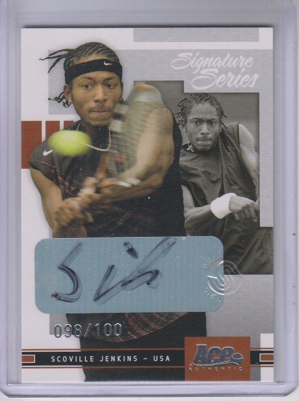 2005 Ace Authentic Signature Series Autograph #41 Scoville Jenkins