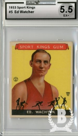 1933 Sport Kings #5 Ed Wachter BK