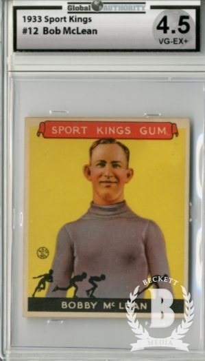 1933 Sport Kings #12 Bobby McLean Skating