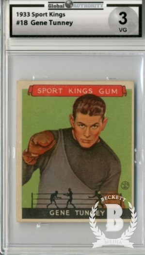 1933 Sport Kings #18 Gene Tunney Boxing
