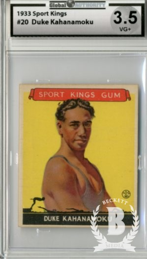 1933 Sport Kings #20 Duke Kahanamoku Swimming