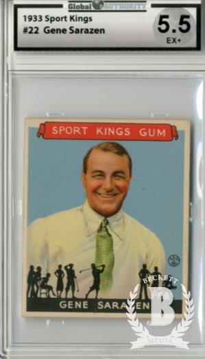 1933 Sport Kings #22 Gene Sarazen Golf