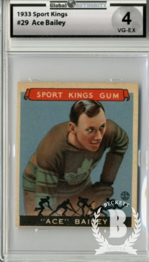 1933 Sport Kings #29 Ace Bailey HK
