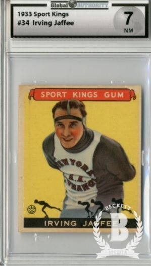 1933 Sport Kings #34 Irving Jaffee Skating