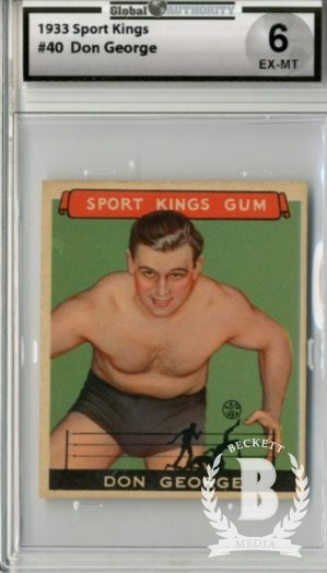 1933 Sport Kings #40 Don George Wrestling
