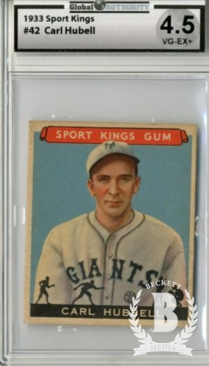 1933 Sport Kings #42 Carl Hubbell BB