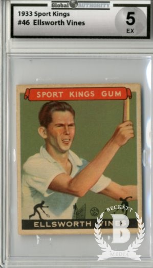 1933 Sport Kings #46 Ellsworth Vines Tennis