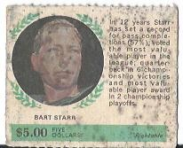 1968 American Oil Winners Circle #12 Bart Starr/Right side
