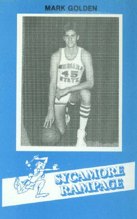 1982-83 Indiana State #31 Mark Golden BK