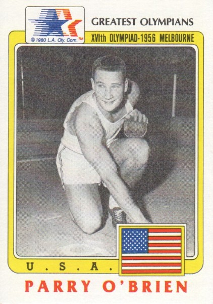 1983 Topps History's Greatest Olympians #32 Parry O'Brien