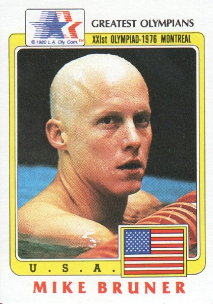 1983 Topps History's Greatest Olympians #42 Mike Bruner