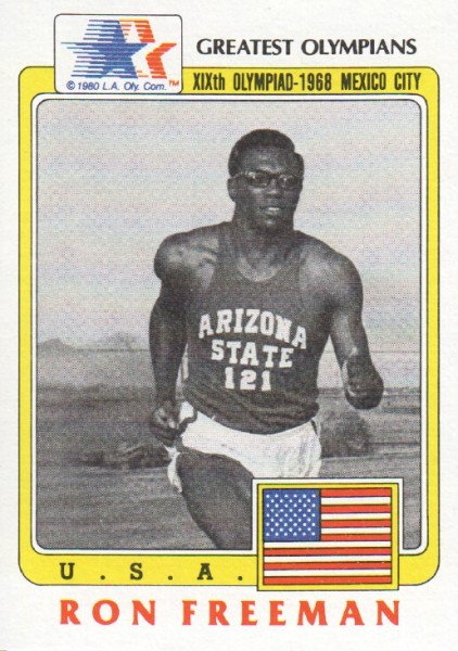 1983 Topps History's Greatest Olympians #66 Ron Freeman