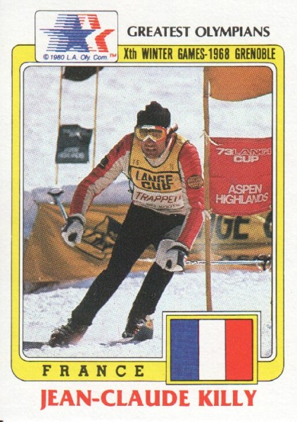 1983 Topps History's Greatest Olympians #69A Jean-Claude Killy