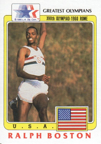 1983 Topps History's Greatest Olympians #83 Ralph Boston