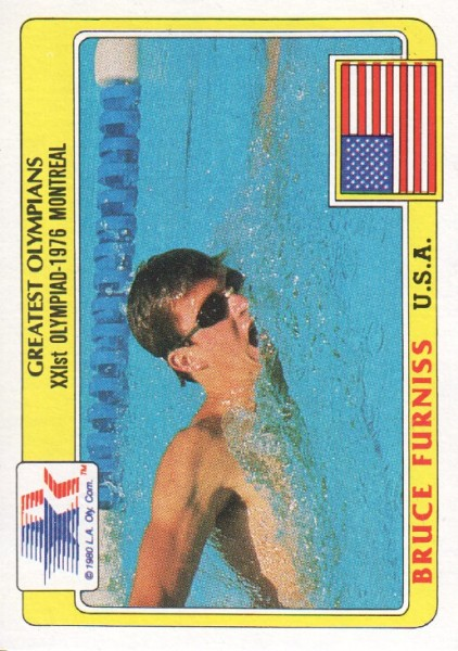 1983 Topps History's Greatest Olympians #89 Bruce Furniss