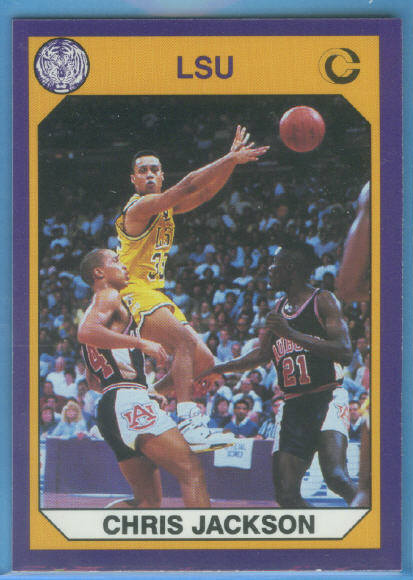 1990 LSU Collegiate Collection Promos #2 Chris Jackson BK