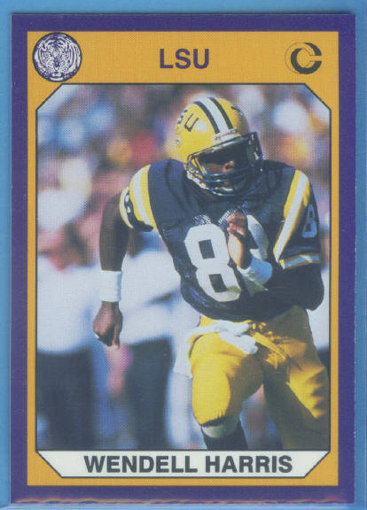 1990 LSU Collegiate Collection Promos #4 Wendell Harris FB