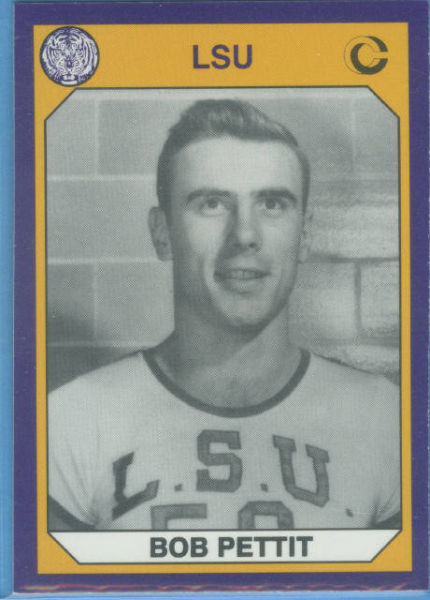 1990 LSU Collegiate Collection Promos #5 Bob Pettit BK