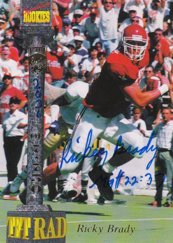 1994 Signature Rookies Tetrad Autographs #2 Ricky Brady