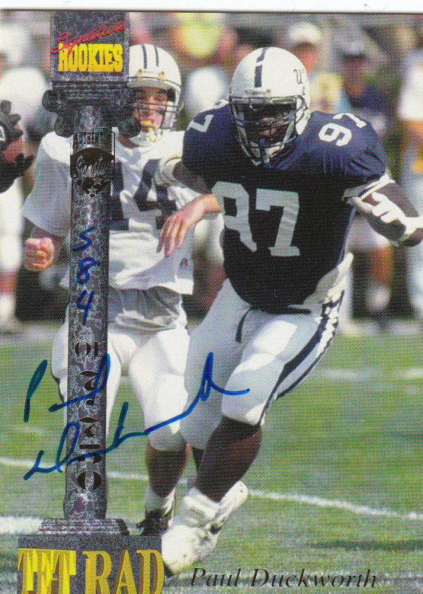 1994 Signature Rookies Tetrad Autographs #3 Paul Duckworth