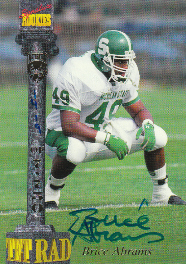 1994 Signature Rookies Tetrad Autographs #5 Brice Adams
