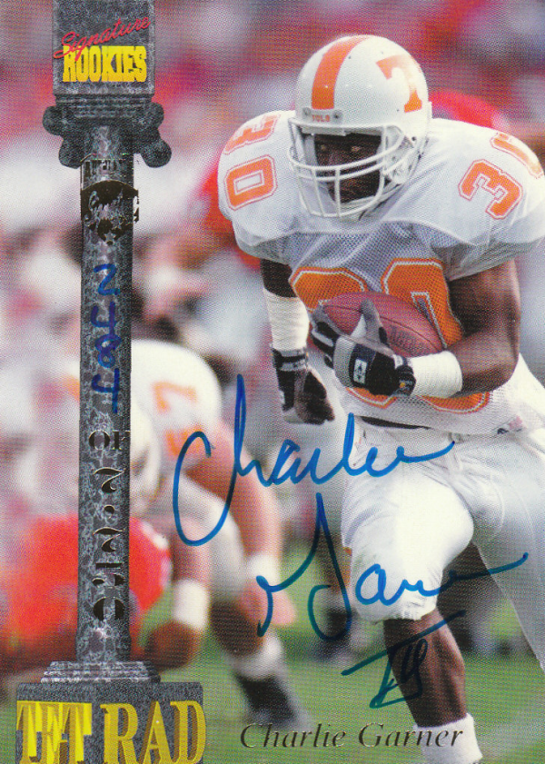 1994 Signature Rookies Tetrad Autographs #7 Charlie Garner