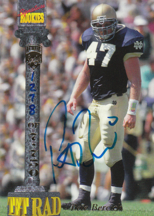 1994 Signature Rookies Tetrad Autographs #8 Pete Bercich