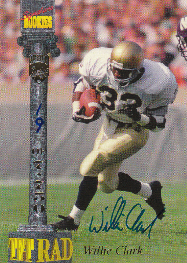 1994 Signature Rookies Tetrad Autographs #10 Willie Clark