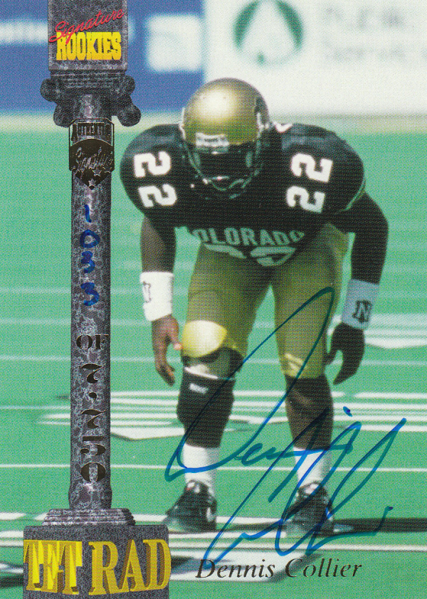 1994 Signature Rookies Tetrad Autographs #13 Dennis Collier