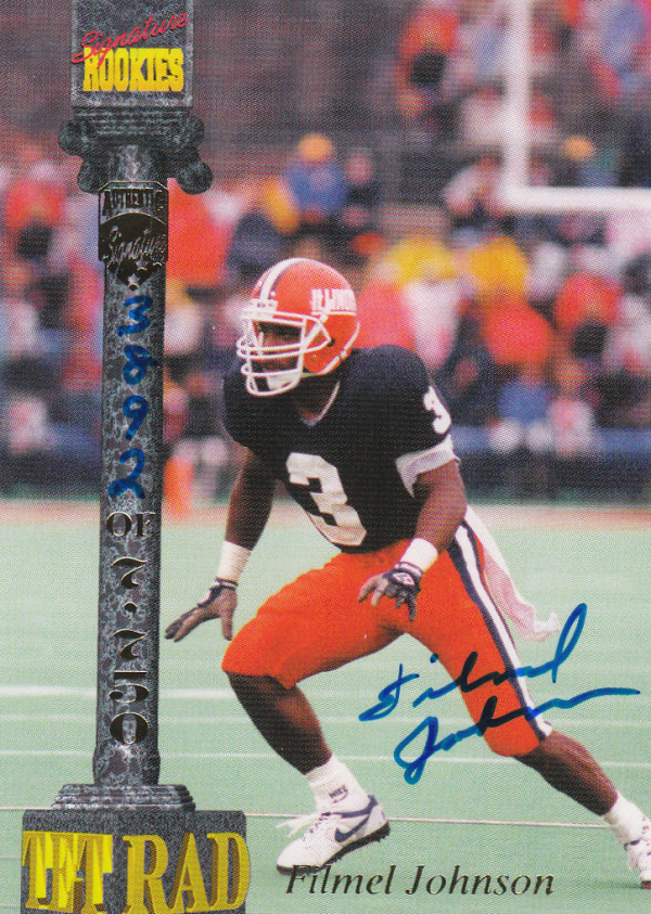 1994 Signature Rookies Tetrad Autographs #14 Filmel Johnson