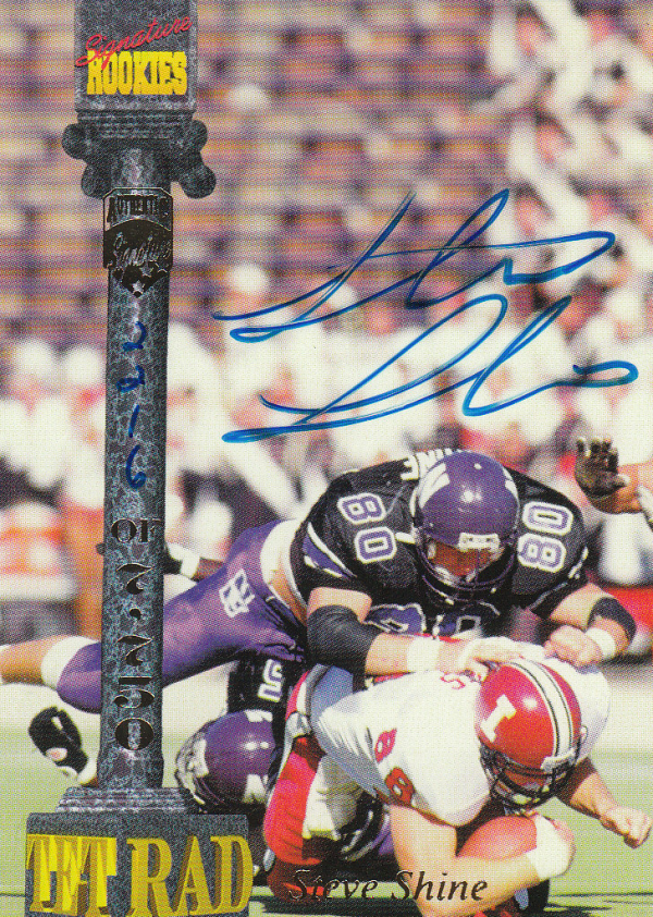 1994 Signature Rookies Tetrad Autographs #19 Steve Shine