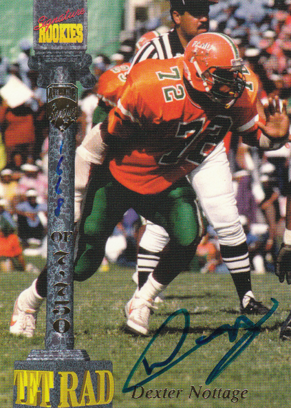 1994 Signature Rookies Tetrad Autographs #20 Dexter Nottage