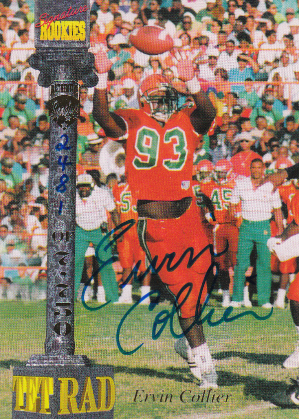 1994 Signature Rookies Tetrad Autographs #21 Ervin Collier