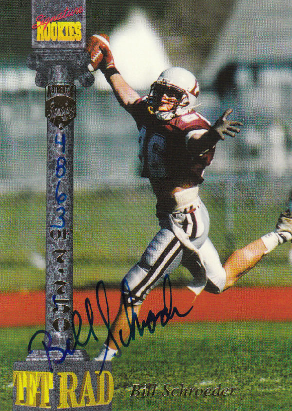 1994 Signature Rookies Tetrad Autographs #25 Bill Schroeder