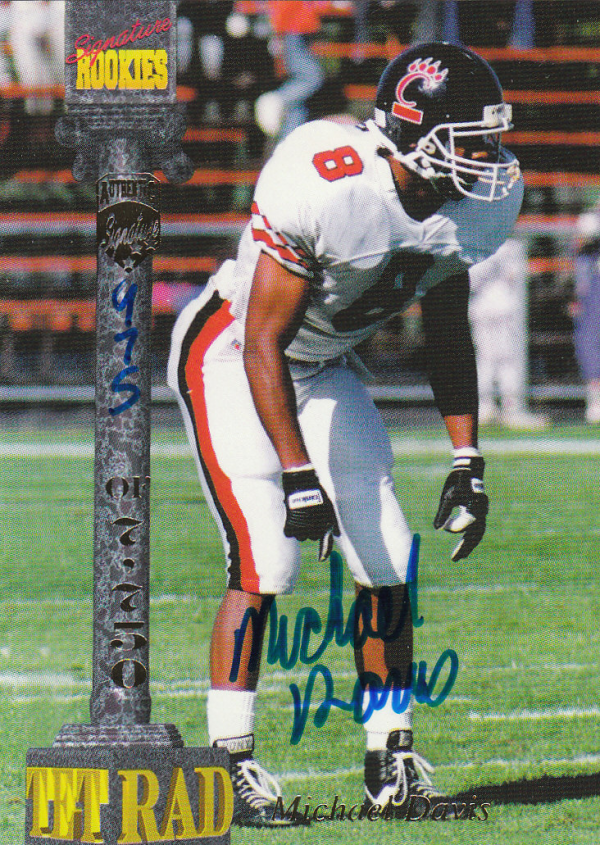 1994 Signature Rookies Tetrad Autographs #29 Mike Davis