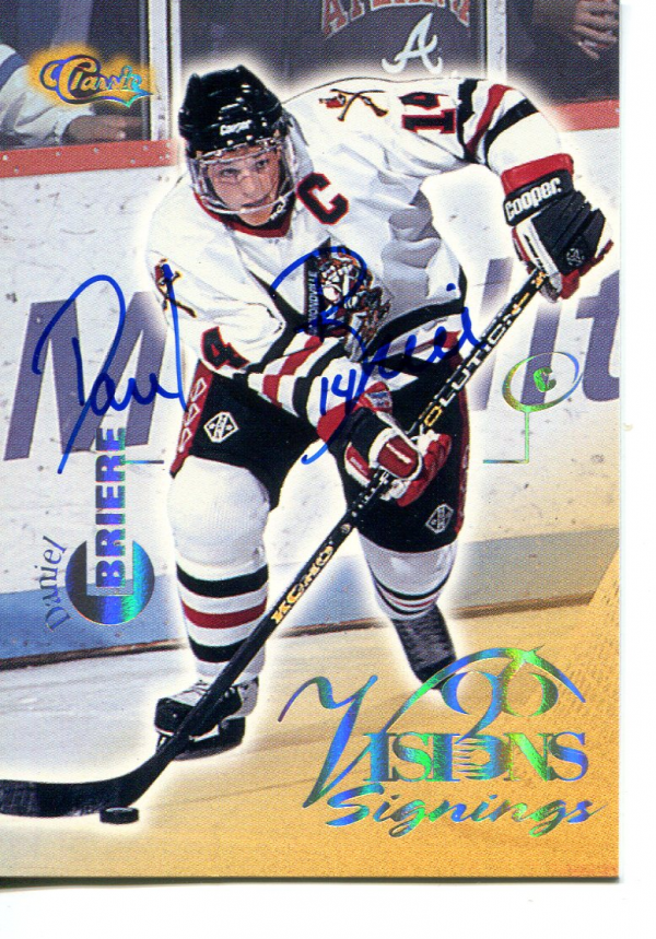 1996 Visions Signings Autographs Gold #8 Daniel Briere