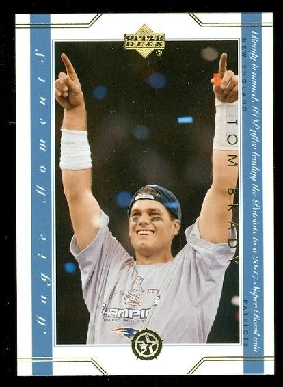 2002-03 UD SuperStars Magic Moments #MM13 Tom Brady