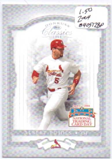 2004 National Trading Card Day #DP1 Albert Pujols